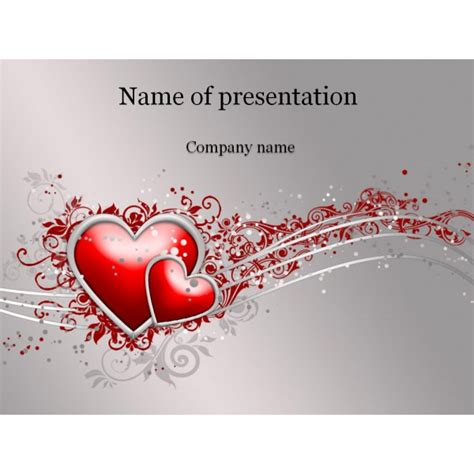 love powerpoint template background for presentation