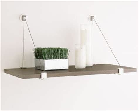 Suspended Shelf by Cable Shelf Brackets The Container Store