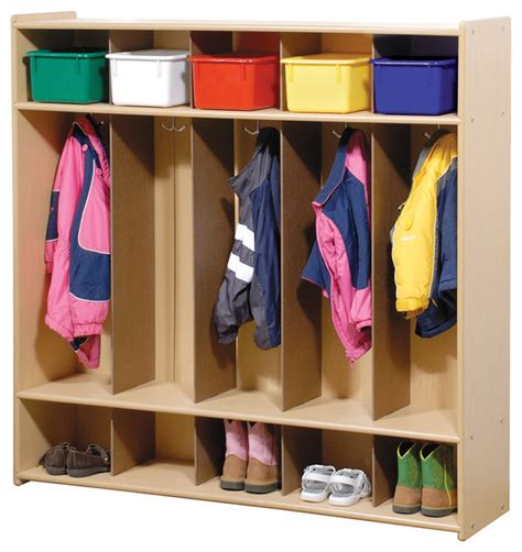 Coat Modern Kid steffywood coat shoe organizer 5 section cubby locker contemporary baby and by