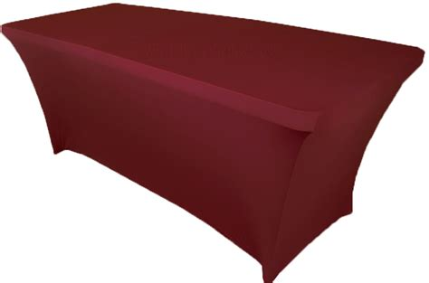 spandex table cover 8 ft rectangular burgundy spandex table covers