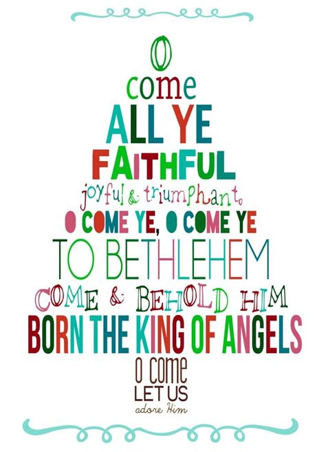 printable oh christmas tree lyrics o come all ye faithful printable way wuth words pinterest
