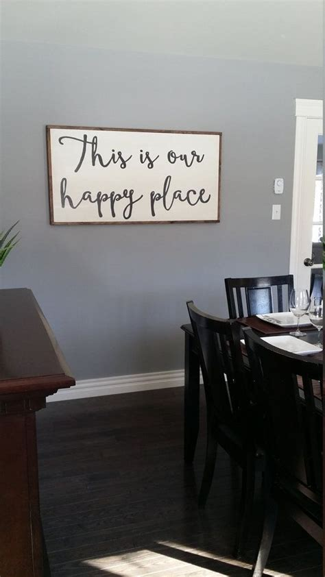large wooden signs home decor this is our happy place wooden sign large by