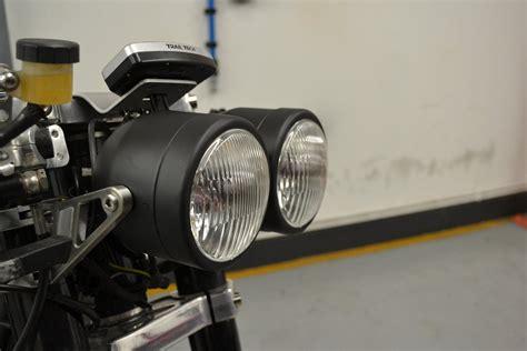Motorrad Doppelscheinwerfer by Dual Double Black Dominator Streetfighter Gsf600 Retro