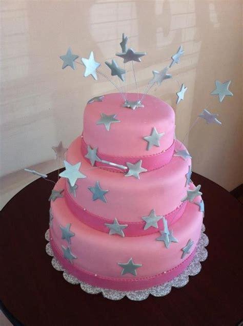 pink star birthday cake maddy   pinterest birthday cakes birthdays  bakeries
