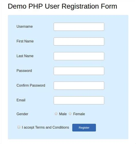 php registration form template free 15 best php registration form templates free premium