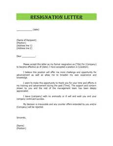 Resignation letter samples and resignation letter format template