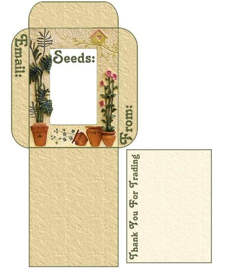 printable seed packet template seed saving use these free seed envelope packet