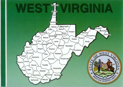 west virginia usa map west virginia map remembering letters and postcards