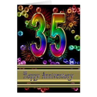 happy 35th anniversary cards zazzle
