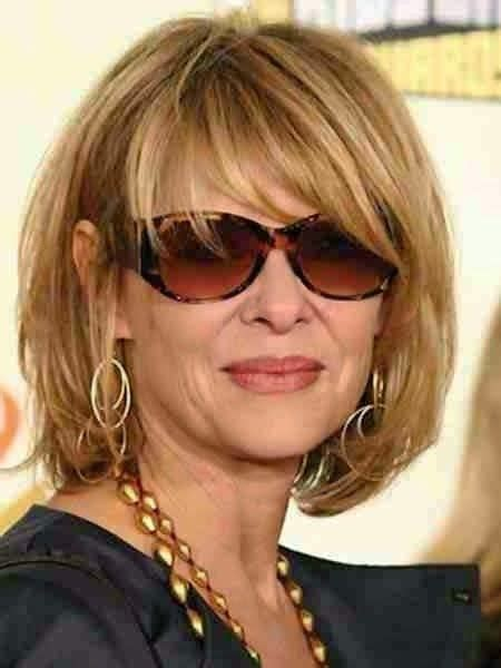 bob haircuts with bangs for women over 50 medium length bob hairstyles for over 50