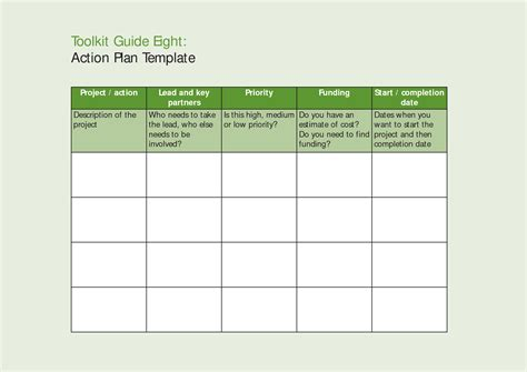 inspiring modern action plan template word sle in table