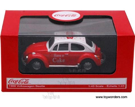 Die Cast City Vehicle 6 Pcs motor city coca cola volkswagen beetle top 1966 1