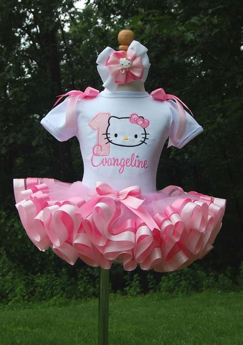Tutu Ribbon hello ribbon trim tutu set in pink by lilabbehandmade 62 99 hello birthday ideas