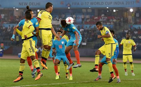 world cup match india vs colombia fifa u 17 world cup one goal