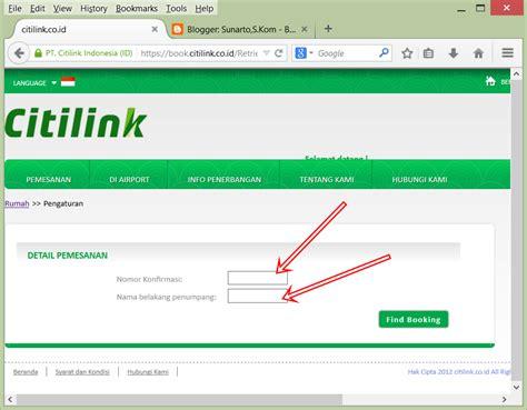 citilink website cara cek status tiket pesawat citilink loket resmi