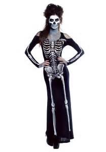 skeleton halloween costume women s bone appetit skeleton long dress costume