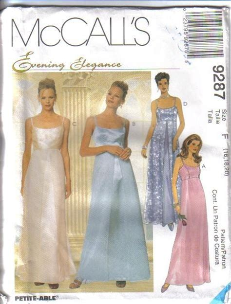 McCalls Formal Evening Wear Dress Sewing Pattern Cocktail