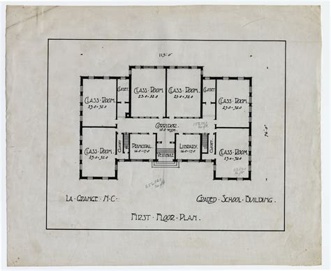 floor plans for school buildings first floor plan graded school building lagrange n c