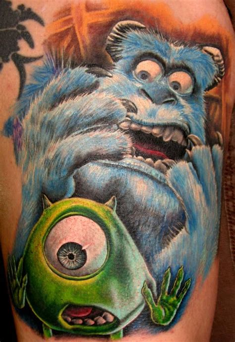 monsters ink tattoo the best ink from inc the top 10 monsters inc tattoos