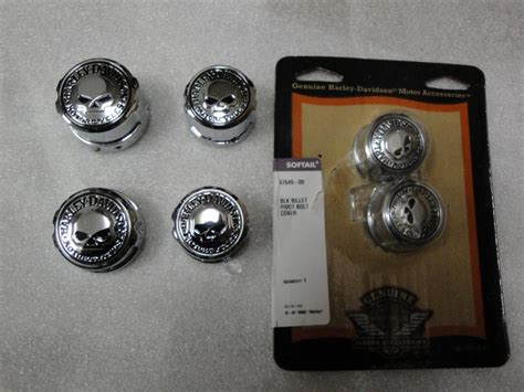 Willy G Axle Nut Harley Davidson willie g skull front rear and pivot bolt covers harley davidson forums