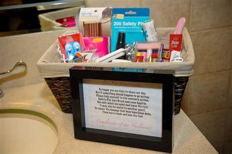 bathroom wedding basket list wedding reception bathroom baskets home design tips and guides