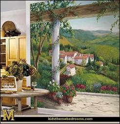 Tuscan Wall Murals Decorating Theme Bedrooms Maries Manor Tuscany Vineyard