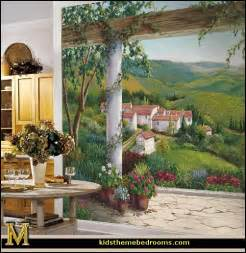 tuscan kitchen decor wall: style decorating tuscan wall mural stickers tuscan themed kitchen