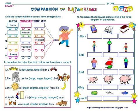 celebrity definition adjective grammar adjectives comparative and superlative quiz
