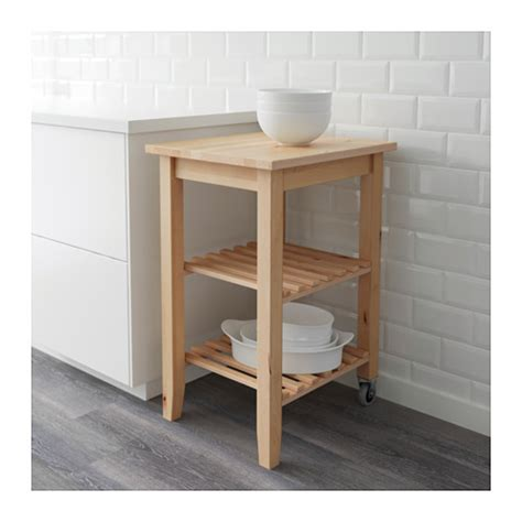 bekv 196 m kitchen trolley birch 58x50 cm ikea