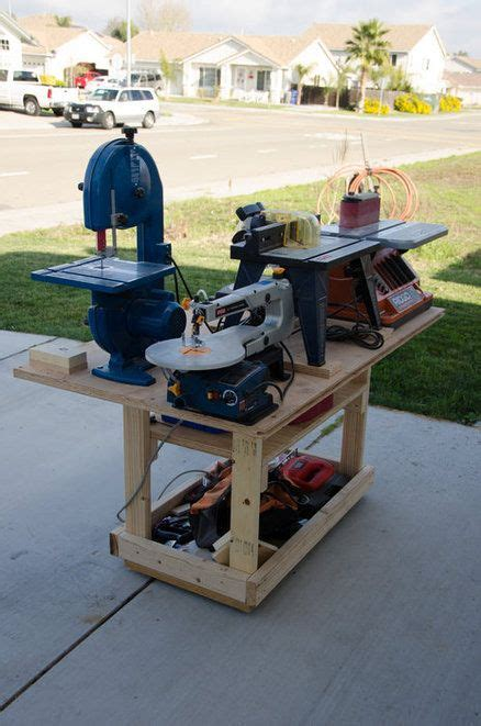power tool bench mobile power tool station workshop workshop storage