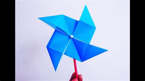 How To Make A Paper Pinwheel That Spins - how to make a paper windmill that spins diy origami