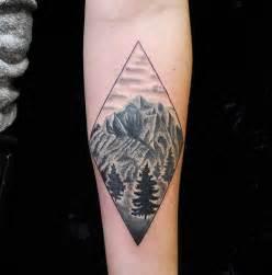 rhombus pattern tattoo geometric mountain tattoobest tattoo ideas on the net