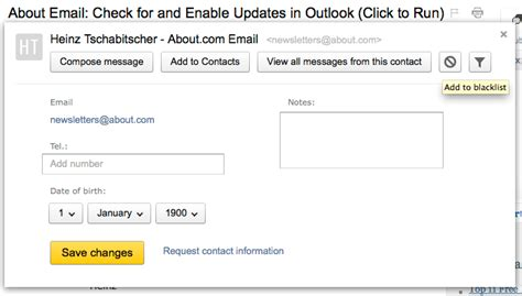 yahoo email block sender blocking an email address in yandex mail