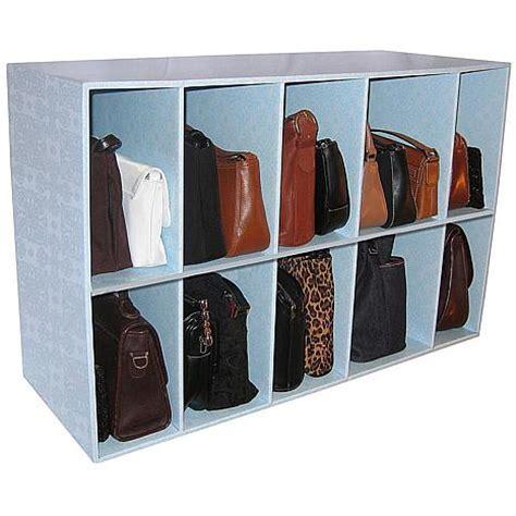 park a purse closet organizer with 10 cubbies 6275316 hsn
