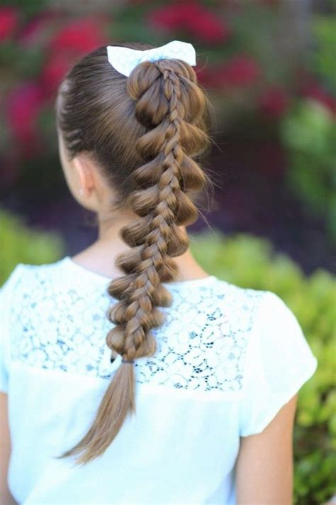braids to scape stacked pull through braid hair pinterest hair style