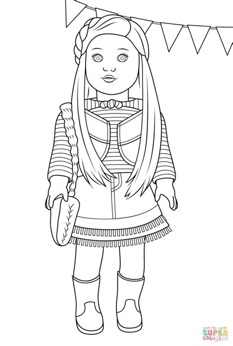 Coloring Pages American Girl Mckenna Coloring Page Free American Julie Coloring Pages