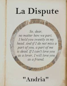 La Dispute A Letter Lyrics Meaning La Dispute On La Dispute La Dispute Lyrics And