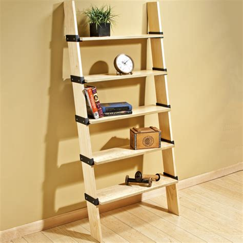 New I Semble Brackets Make Shelf Construction Easy Diy Ladder Bookcase Diy