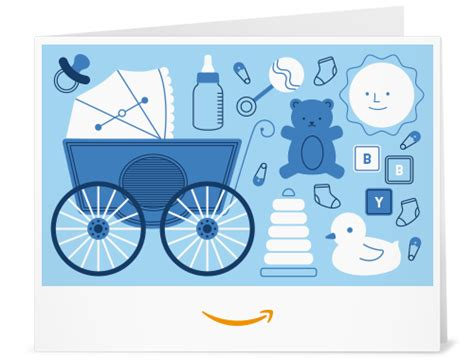 Print Out Amazon Gift Card - amazon com amazon gift card print baby icons blue gift cards