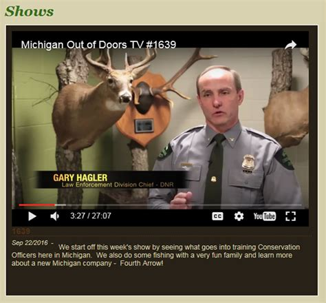 Michigan Out Of Doors Tv by Showcasing The Dnr Michigan Out Of Doors Tv Dnr Work