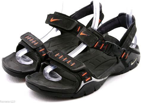 nike sport sandals nike acg mens sandals size 8 eu 41 black orange sports