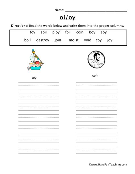 Oi And Oy Worksheets by Oi Oy Worksheets Defendusinbattleblog