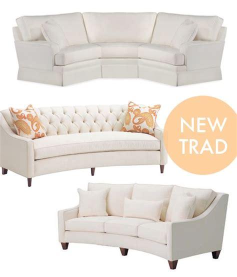 curved sofa on milo baughman modern sofa and