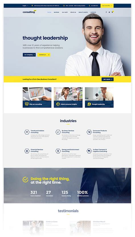wordpress themes computer consulting 20 best business consulting wordpress themes for 2018