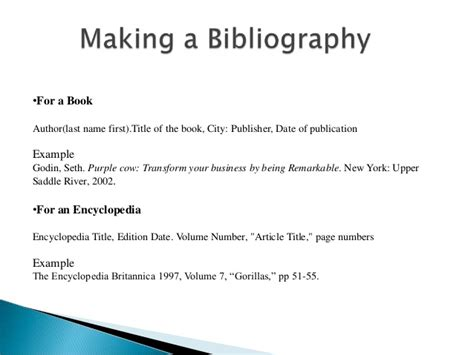 How To Make A Bibliography For A Research Paper - bibliography