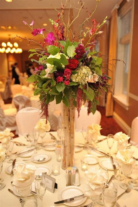 Vase Centerpieces Table Flowers And Buffet Tables On Buffet Table Setting Arrangement