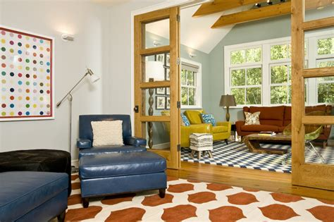 Eclectic Home Design Inc | vibrant family room grace home design eclectic