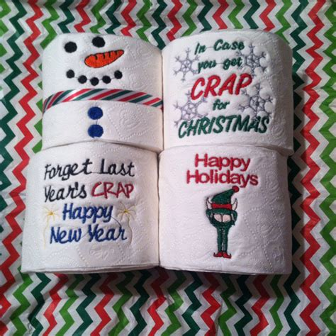 Gallery of embroidered toilet roll