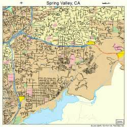 map of california springs valley california map 0673696