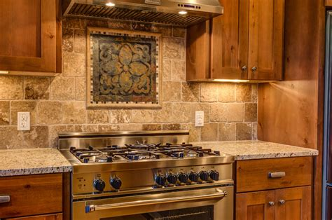 Kitchen Medallion Backsplash rustic contemporary rustic kitchen other metro by